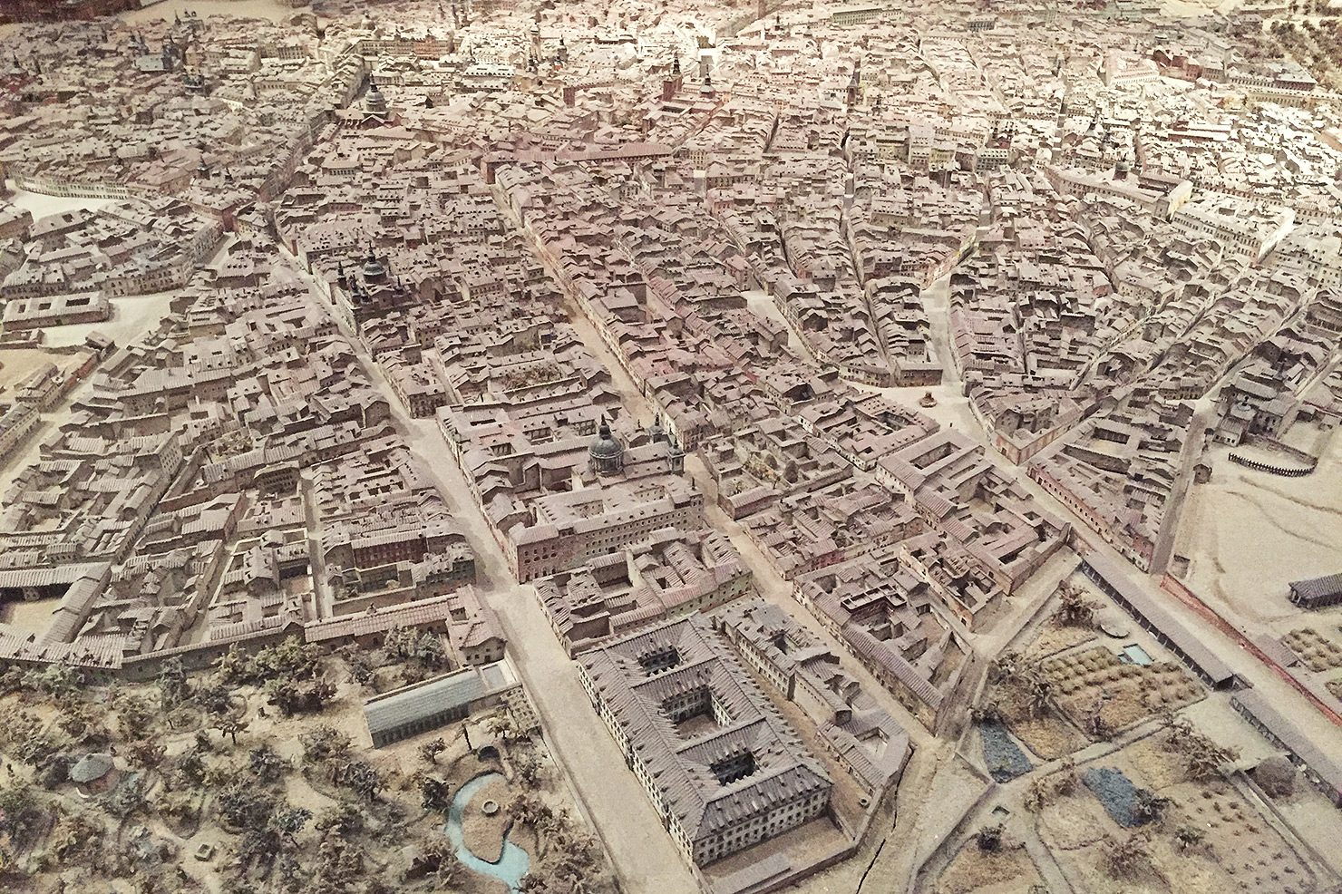 A model of central Madrid, built in 1830 by León Gil de Palacio.